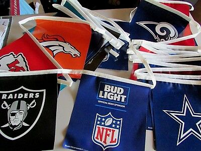 2018 70' Bud Light All Teams NFL Football Vinyl Beer Banner Double-sided sign