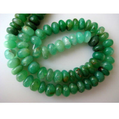 Shaded Chrysoprase Rondelle Beads 9mm Beads 8 Inch Half Strand