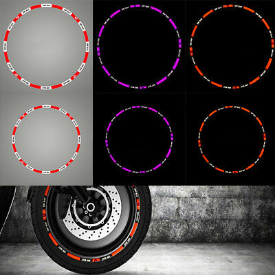 New Motorcycle Rim Tape Reflective Wheel Stickers Decals For Yamaha,Honda,Suzuki