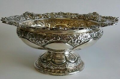 Antique Silver Rose Bowl Sheffield 1899 – Atkin Brothers  (413g)