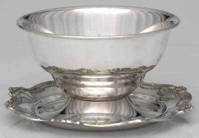 Gorham CHANTILLY DUCHESS STERLING Gravy Bowl With Attached Underplate 1901276