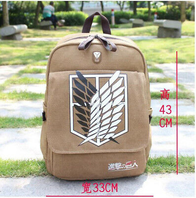 Attack on Titan Shingeki no Kyojin Cosplay Scouting Legion Backpack School Bag