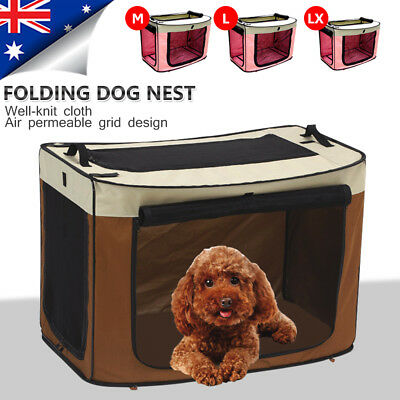 Pet Carrier Portable Soft Crate Dog Cat Cage Travel Bag Kennel Foldable Huskies