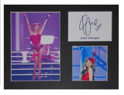 Kylie Minogue signed printed autograph photo print mounted gift display #C