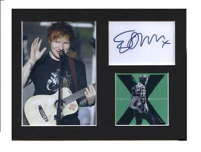 Ed Sheeran signed printed autograph photo print mounted gift display