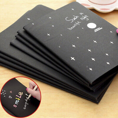 56K Black Paper Sketch Book Diary With Soft Cover For Drawing Painting Graffiti
