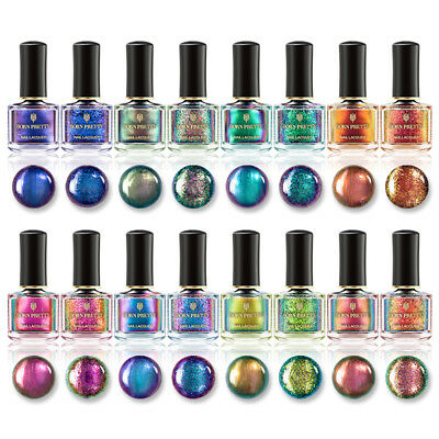 BORN PRETTY 6ml Chameleon Nail Polish Shining Magic Glitter  Varnish DIY