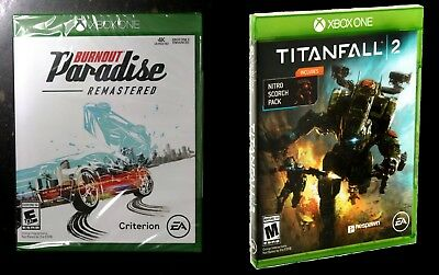 Burnout Paradise Remastered + TitanFall 2 (Xbox One) Brand New! Factory Sealed!