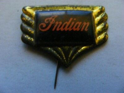 INDIAN motorcycle very old pin badge ,1950s,tinplate/tinlitho.(B).
