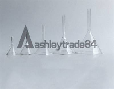 Laboratory Funnel Short Stem Thick Clear Glass Multiple Siz 30/40/50/60/75/90mm