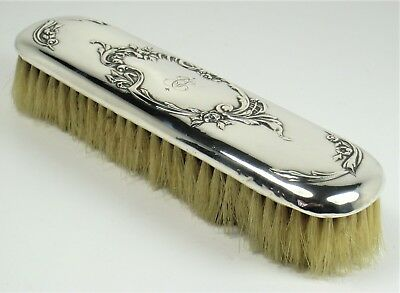 Clothing brush solid silver very beautiful embossed work – 19th century