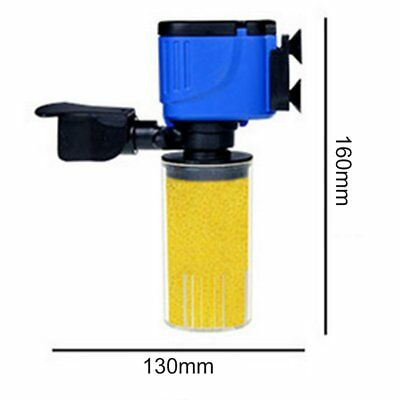3 in 1 Fish Tank Aquarium Internal submersible Water Power Filter Pump 2800L/HHZ