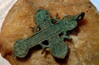 "RARE 16-18th CENTURY ORTHODOX ""OLD BELIEVERS"" ORNATE OPENWORK ""SUN"" SOLAR CROSS"