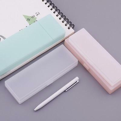 Cute Plastic Pencil Case Pen Storage Box Student Stationary Office Kids Gift JA