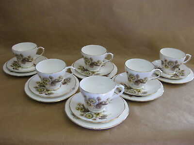6 Vintage Royal Sutherland & Duchess Cups, Saucers & Plates ~ Mix'n'Match Trios