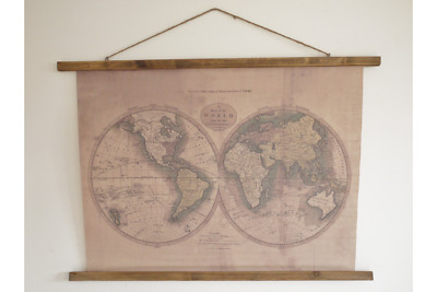 Wall Decoration vintage Antique world map Sign Hanging Picture plaque distressed