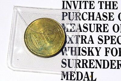 Rare 1996 Bells Scotch Whisky Brass Medal token for Scottish Golf  Open