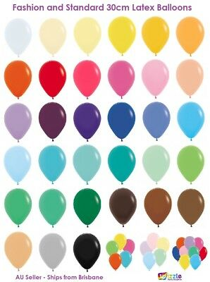 Deluxe Fashion Coloured Latex Balloons 36 Colours Premium Helium Quality