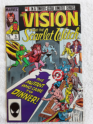 The Vision and the Scarlet Witch #6 (Mar 1986, Marvel) Vol #2 Fine+