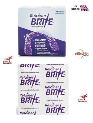 Retainer Brite 36 & 96 Cleaning tablets UK Seller