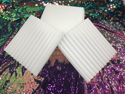 """Wedge foam acoustic - White Studios Sound Absorption Wall  1""""X 12""""X 12"""" 24 Pack"""
