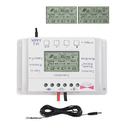 Sun YOBA 20A 12V/24V MPPT Solar Charge Controller Three-Timer + 16.4ft Cable MT