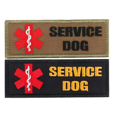 Paramedic Star of Life Service Dog Embroidered Hook and Loop Patch Clothes Decor