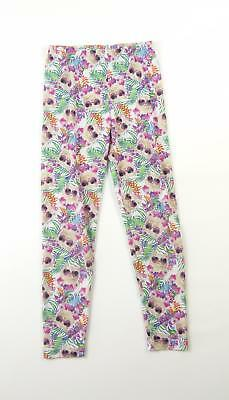 L&D Girls Multi Coloured Floral Leggings Age 9-10