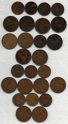 Estate Sale Lot 26 Old coins 1800s / 1900s England Great Britain Australia 1868