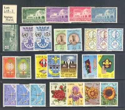LIB_2. LIBYIA. Valuable lot of 1956-1965 stamps. Scott 169-287. MNH
