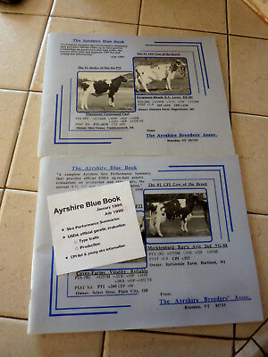 "2 The Ayrshire Breeder's  Association 1990 ""blue Book"" Registered Sire Summarys"