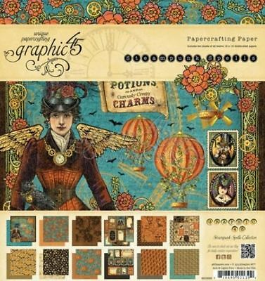 Graphic 45 Steampunk Spells 8x8 Paper Pad RETIRED