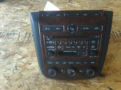 2004-2005 Nissan Murano Radio Receiver Climate Controls Face Unit