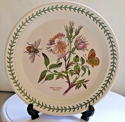 "PORTMEIRION Botanic Garden ~ 8.5"" Salad Plate ~ DOG ROSE  ~ 1st Quality"