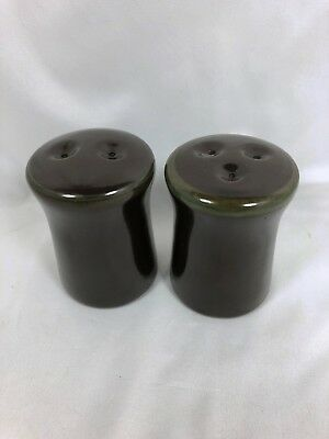 Set of Salt & Pepper Shakers with 2/3 Holes MADERIA Brown by Franciscan USA