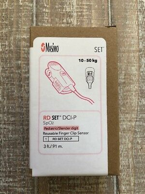 Masimo RD set DCI-P Pediatric/Slender Digit Reusable Finger Clip Sensor Ref 4051