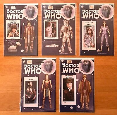 New Unread Doctor Who Fourth / 4Th Dr Comics 1-5 Action Figure Variant Covers