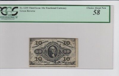 Fractional Currency Civil War era item to 1870s PCGS Graded Choice about new 58