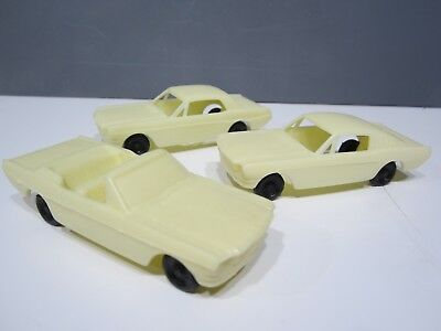 F&F Mold 1966 Mustangs Cereal Cars Set of 3 Unreleased Factory Find Black Wheels