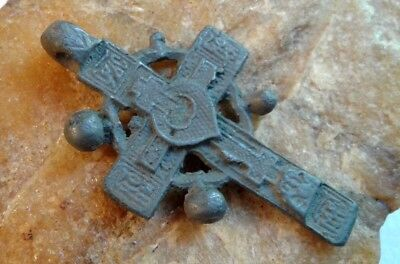 "RARE 17-19th CENTURY ""OLD BELIEVERS"" ORTHODOX ""SUN"" CROSS PSALM 68 ""EXORCISM"""