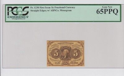 Fractional Currency Civil War era item to 1870s PCGS Graded Gem new 65PPQ