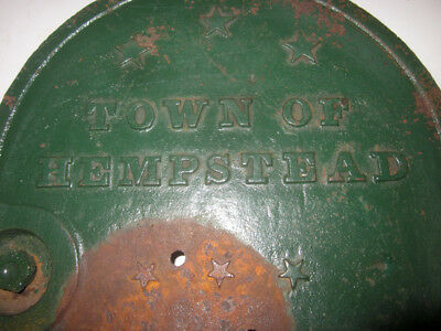 1920's Town of Hempstead Long Island NY Water Box Cover Door Salvage