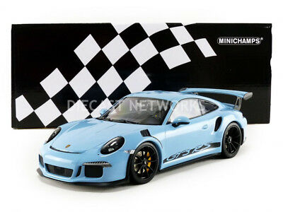 Minichamps 2015 Porsche 911 (991) GT3 RS Blue/Black 1/18 Scale LE of 222 New!