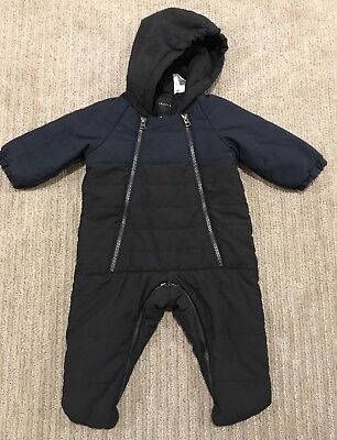 Theory Boys Unisex Girls Snowsuit 3-6 3 6 Months Black Navy Blue Winter Coat