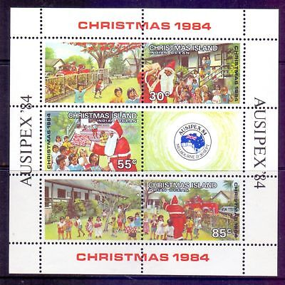 Christmas Island  1984  Mini sheet, Christmas / Ausipex 84, MNH.