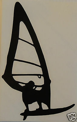 2 X Windsurfer Silhouette Stickers/Decals /Watersports/Boating/Windsurfing