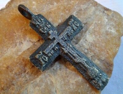 "Antique 18-19 Century Russian Orthodox ""old Believers"" Larger Cross Pendant"