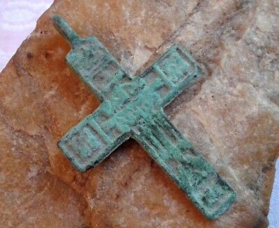 "RARE 17-18th CENTURY RUSSIAN ORTHODOX ""OLD BELIEVERS"" CROSS ""CROWN OF THORNS"""