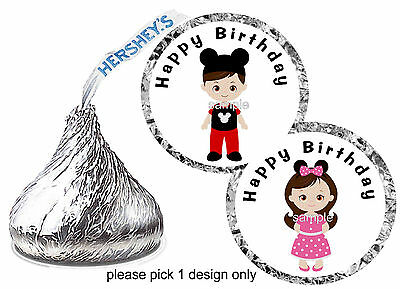 216 MICKEY AND Minnie Mouse Wedding Favors Hershey Kiss Labels ...