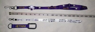 NEW THAI AIRWAYS AIRLINE's LANYARDS and Keychain/Keyring, Total 3 pcs.